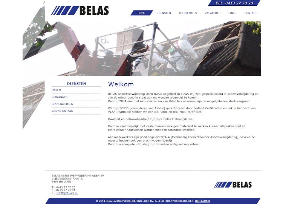 Belas Asbestverwijdering Uden B.V. - Website