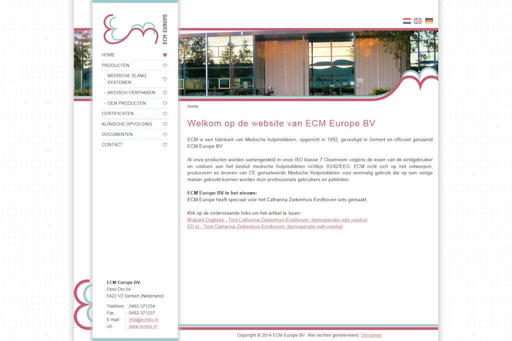 ECM Europe BV - Website