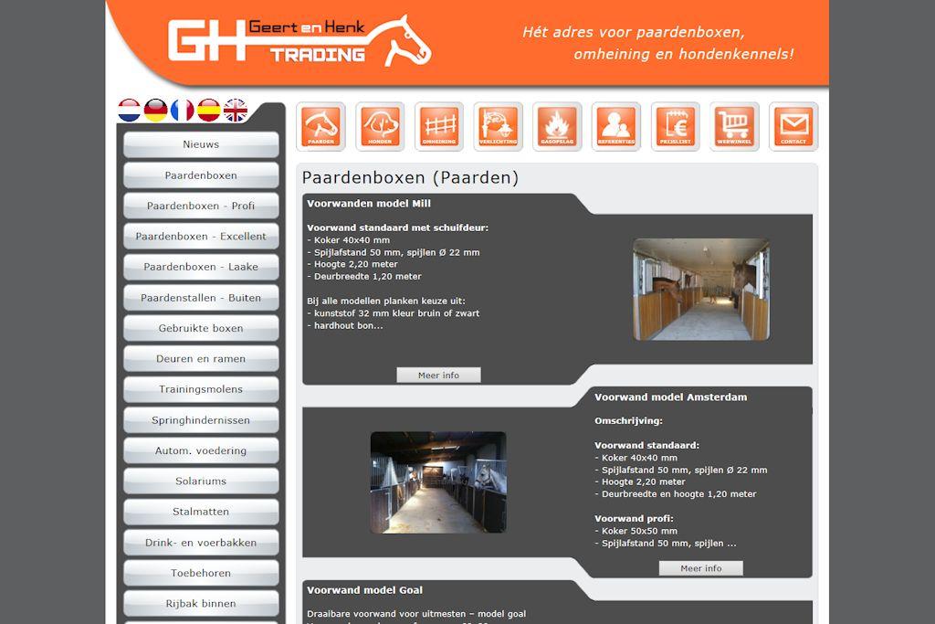 Geert en Henk Trading - Website