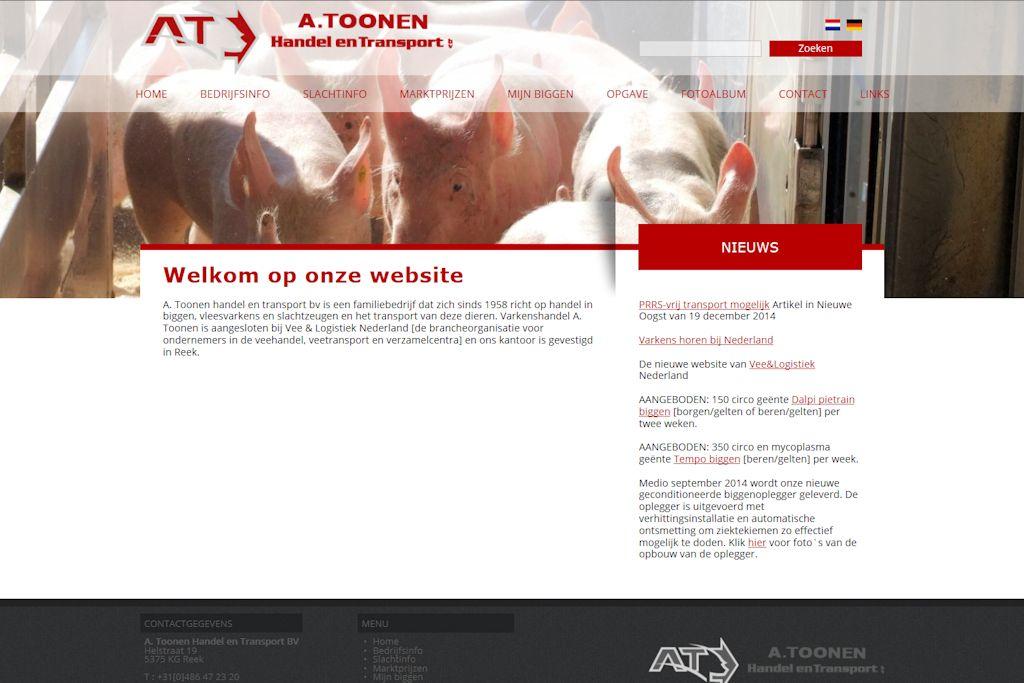 A. Toonen Handel en Transport - Website