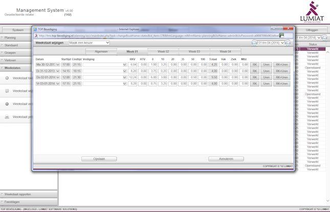 TOP Beveiliging - Web-based Planning software